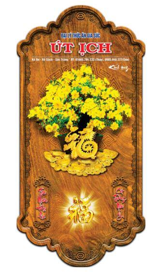 Lịch gỗ hoa mai rất được ưa chuộng