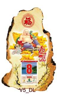 Mẫu lịch gỗ 3D theo đạo Phật rất đẹp và tinh tế
