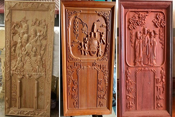 Tranh lịch gỗ điêu khắc thủ công